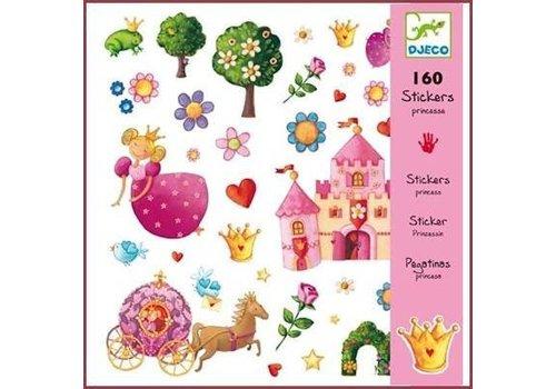 Djeco Djeco stickers de prinses en de kikker
