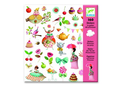 Djeco Djeco stickers theekransje prinsessen
