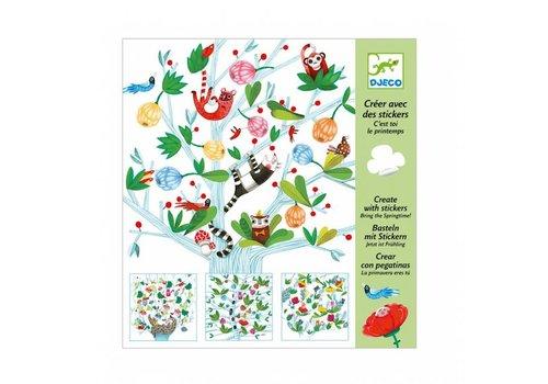 Djeco Djeco Creëren met stickers - lentekriebels