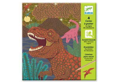 Djeco Djeco Scratch Cards When Dinosaurs Reigned