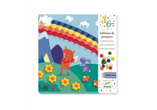 Djeco Djeco Pomponschilderijen 'Droomwereld'