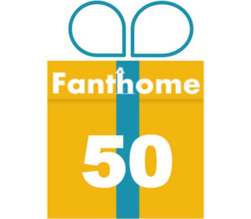 Cadeaubon Fanthome 50 euro