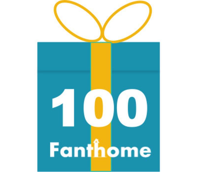 Cadeaubon Fanthome 100 euro