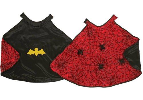 Great Pretenders! Great Pretenders Omkeerbare Cape Spider/Batman XS