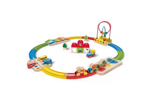 Hape Hape Treinset Rainbow Route Railway & Station set