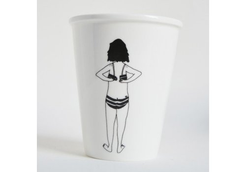 Helen B Helen B Porseleinen Beker Bikini Girl