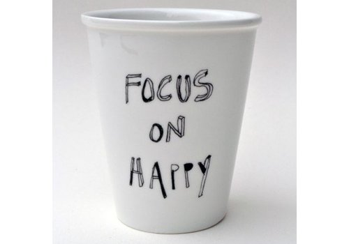 Helen B Helen B Porseleinen Beker Focus on Happy
