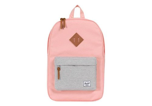 Herschel Supply Co Herschel Heritage Mid-Volume Peach/Light Grey Cross/Tan Synthetic Leather