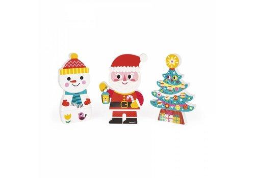 Janod Janod Funny Magnets 'De Kerstman en zijn vrienden'