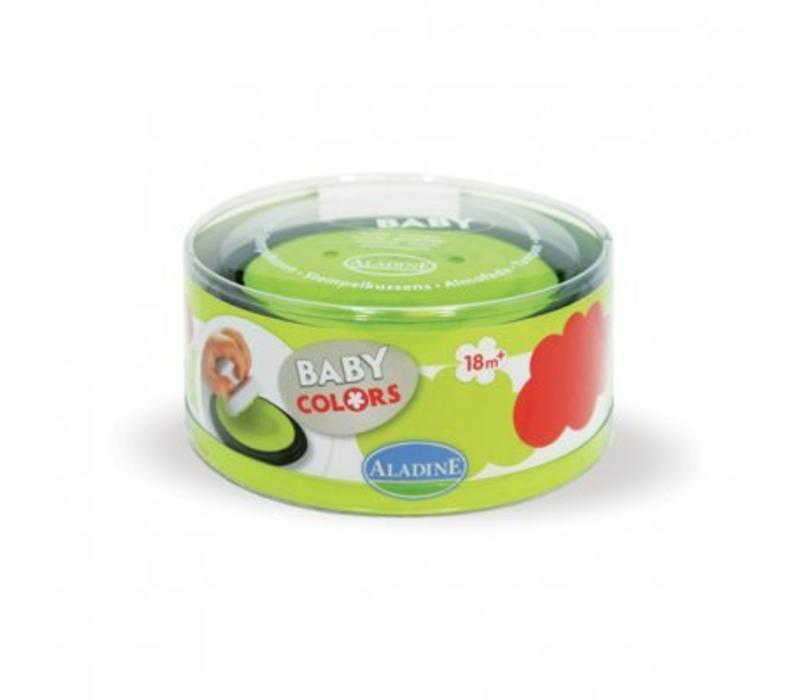 Aladine Stampo Baby inktkussenset Rood/Groen
