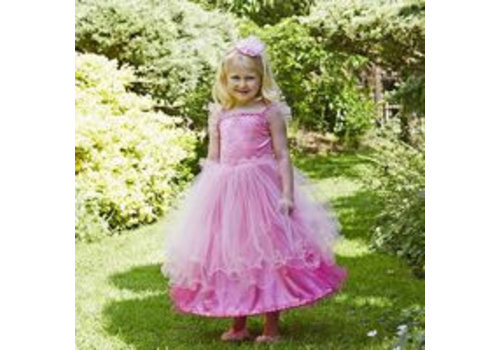 Travis Designs Travis Designs Pink Sweetheart Prinsessenjurk met Haarband 3 - 5 jaar