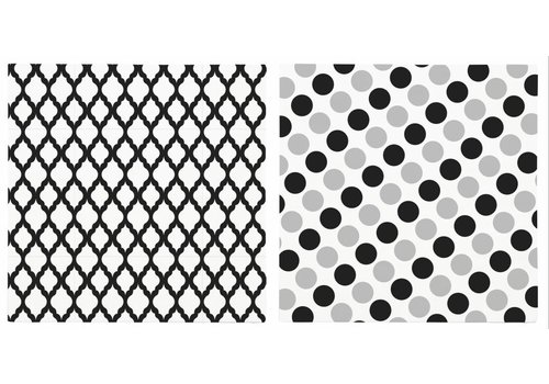 KJ Collection Servetten zwart/wit