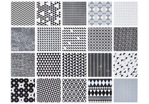 KJ Collection KJ Collection kaarstegel met grafisch design