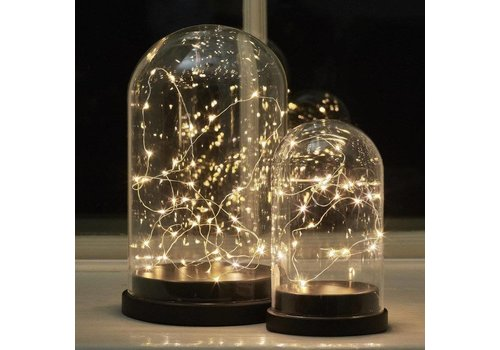 KJ Collection Villa Collection Dome Lantaarn met Led lichtjes small
