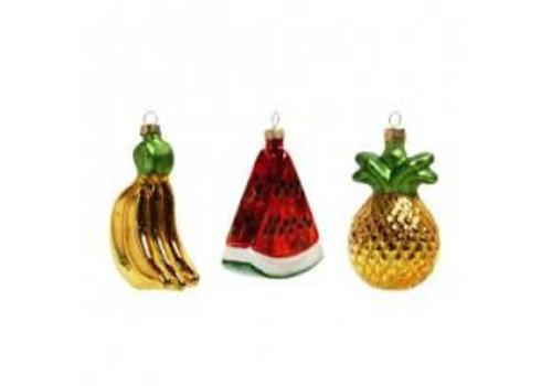 Klevering Fruit ornaments set of 3