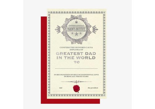 Legami Legami Wenskaart 'Greatest Dad In The World'