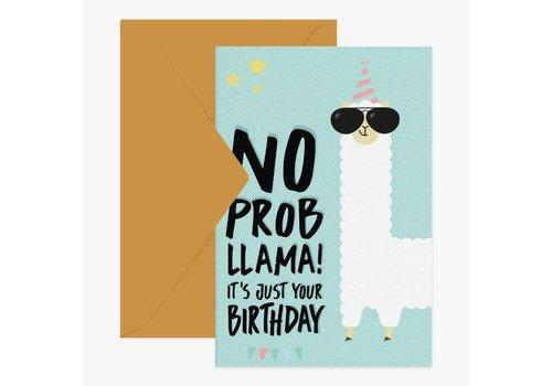 Legami Legami Wenskaart 'No Probllama - It's Just Your Birthday'