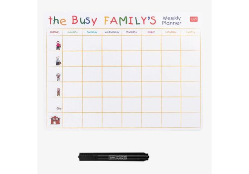 Legami Legami Magneetbord Busy Family