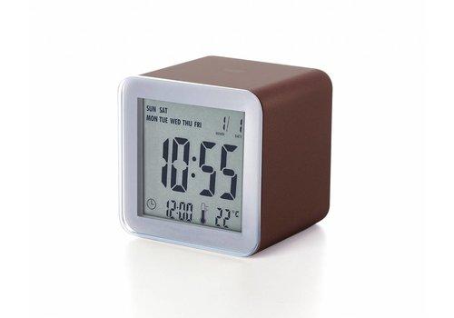 Lexon Lexon Cube Sensor LCD Alarm Clock brown