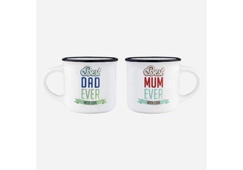 Legami Legami Espresso tassen set Best Mum & Dad