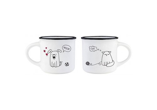 Legami Legami Espresso tassen set Cat & Dog