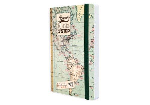 Legami Legami Notaboek medium 'Landkaart'