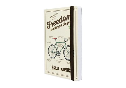 Legami Legami Notaboek medium 'Freedom is riding a bicycle'