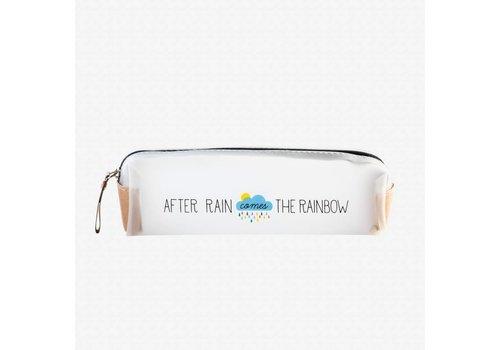 Legami Legami Transparante pennenzak 'After rain comes the rainbow'