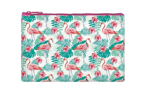 Legami Legami Zipper Pouch Funky Collection Flamingo