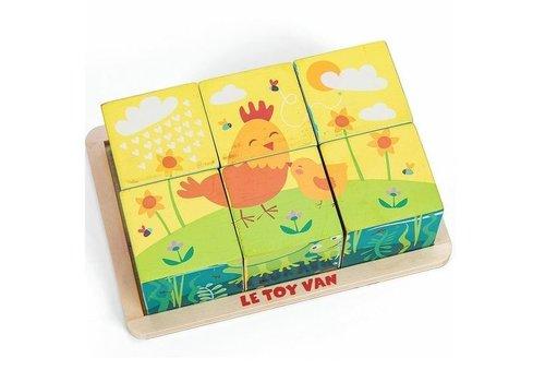 Le Toy Van Le Toy Van All Season Wooden Cube Puzzle