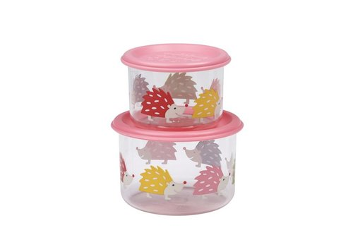 Sugarbooger Sugarbooger Good Lunch Set van 2 Snackdoosjes Hedgehog