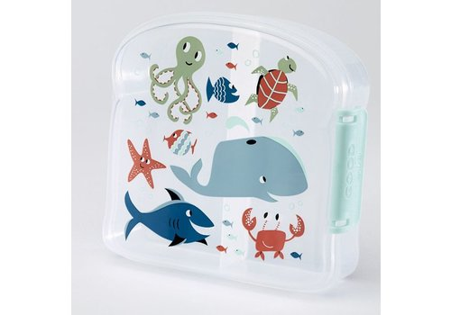 Sugarbooger Sugarbooger Good Lunch Sandwich Box Ocean