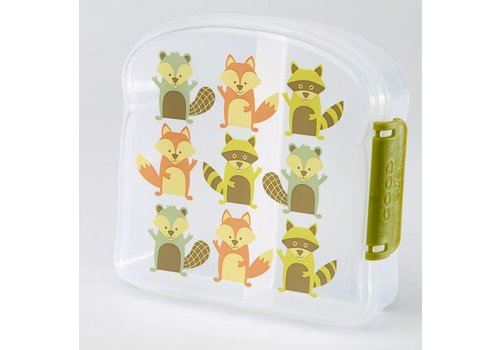 Sugarbooger Sugarbooger Good Lunch Sandwich Box 'What did the fox eat?'