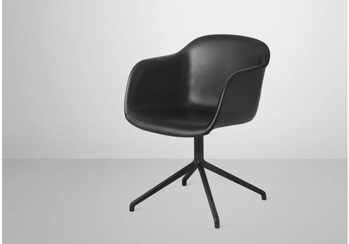 Muuto Muuto Fiber ArmChair Swivel Silk Black