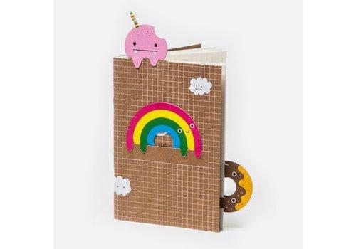 Noodoll Noodoll notaboekje regenboog