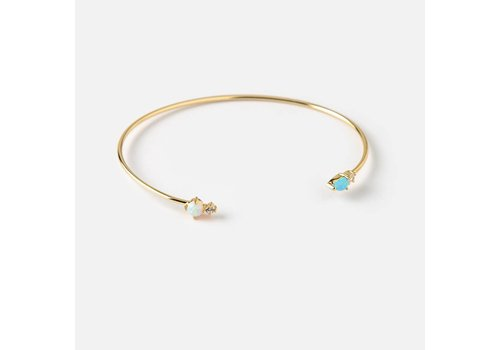 Orelia Orelia Armband Tiny Opal Stone Bangle