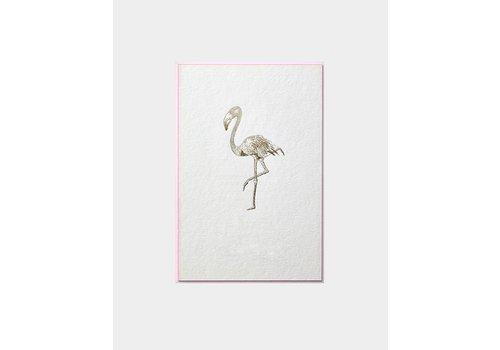 Papette Papette Kaart + Env Gouden Flamingo