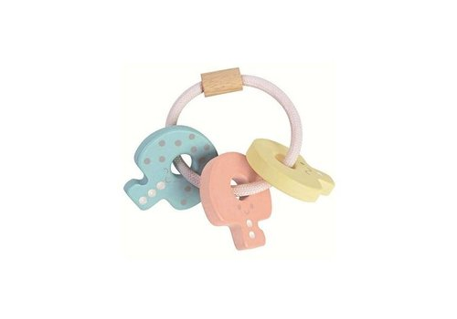 Plan Toys Plan Toys Houten Sleutels Rammelaar