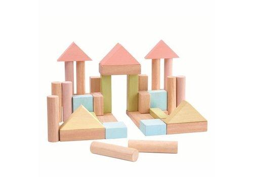 Plan Toys Plan Toys 40 Blokken Pastel