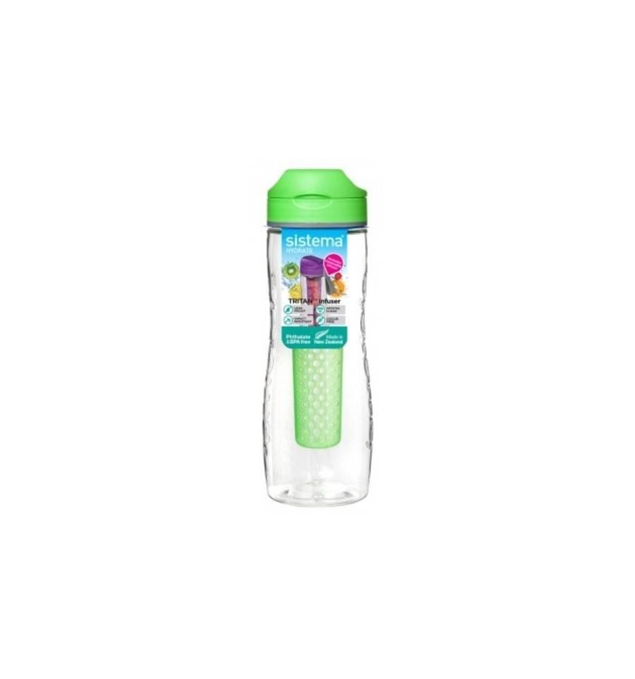 ceaf20409ff Sistema Hydrate Drinkfles Tritan Infuser 800 ml