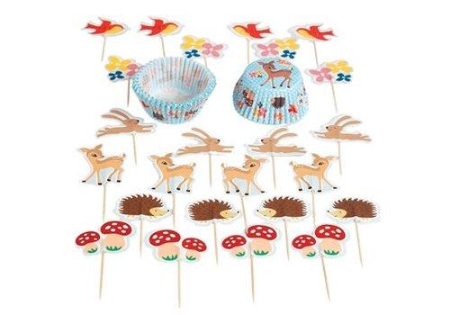 Rex International Cupcake versierset 'bosrijk'