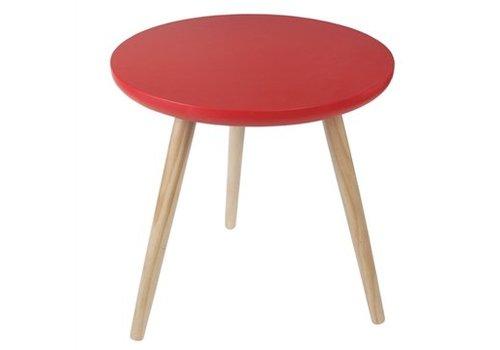 Rex International Rex International Round Red Side Table