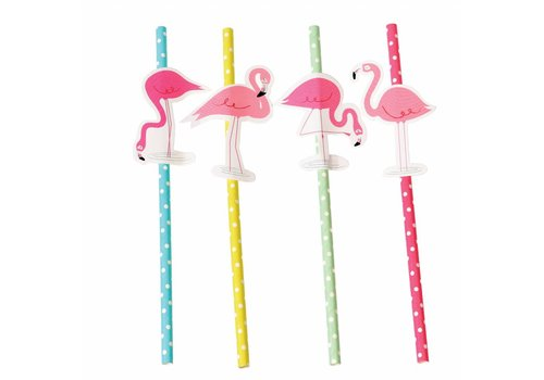 Rex International Rex International Party Straws Flamingo Bay 4Pcs