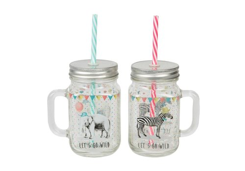 Sass & Belle Sass & Belle Party animals glazen drinkbeker