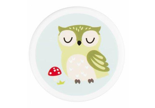 Sass & Belle Klein rond doosje spring forest owl