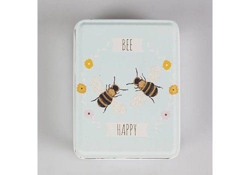 Sass & Belle Tinnen doosje 'bee happy'