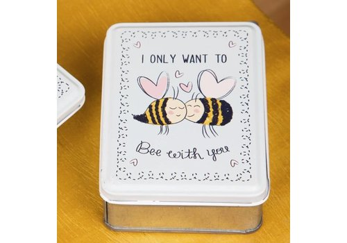 Sass & Belle Tinnen doosjes 'I only want to bee with you'