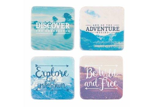 Sass & Belle Sass & Belle Adventure set van 4 onderleggers