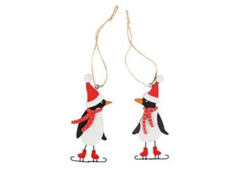Sass & Belle Sass & Belle Ice Skating Pinguin Kerstdecoratie