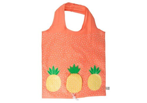 Sass & Belle Sass & Belle tropische ananas opvouwbare draagtas
